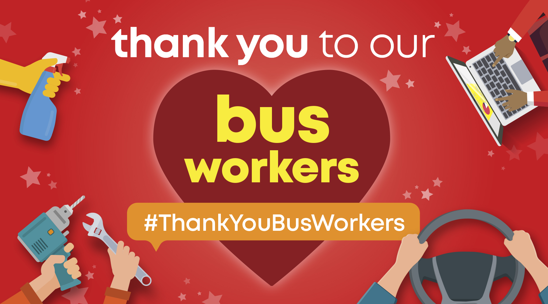 #ThankYouBusWorkers Campaign